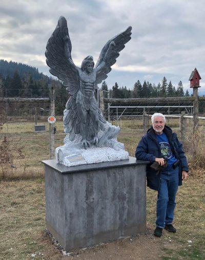 photo of Lleu statue