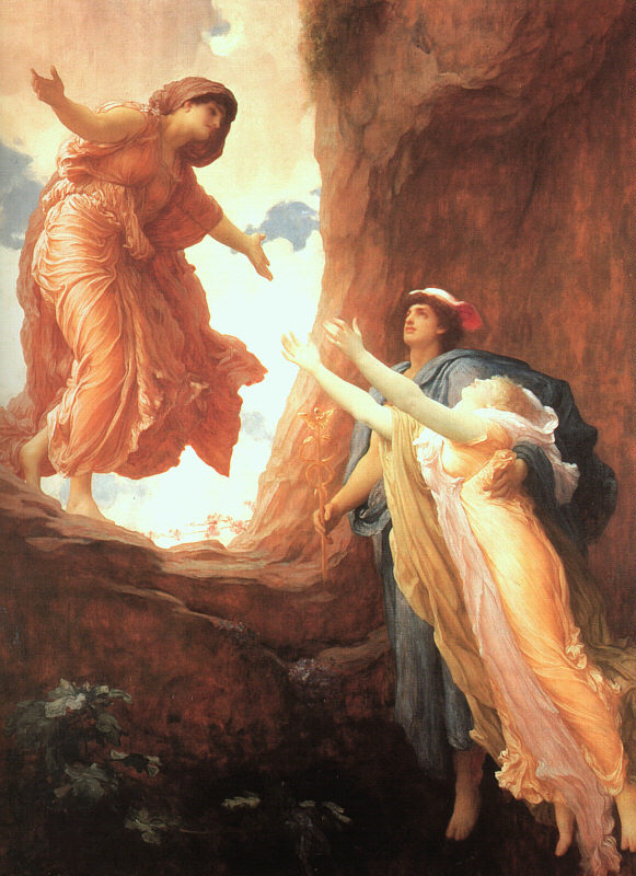 Photo of Persephone being returned to Her mother